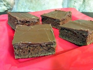 Mexican sheetcake brownie recipe ready to eat