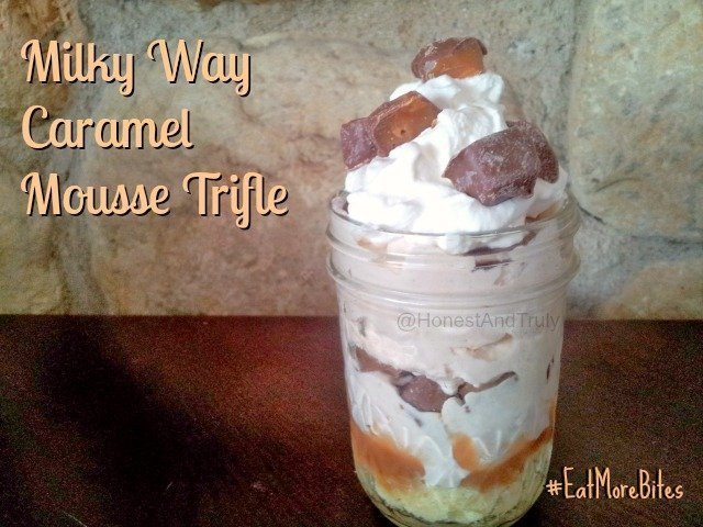 Enjoy a Milky Way Caramel Trifle - easy and delicious dessert recipe that will make you want to #EatMoreBites #shop #cbias