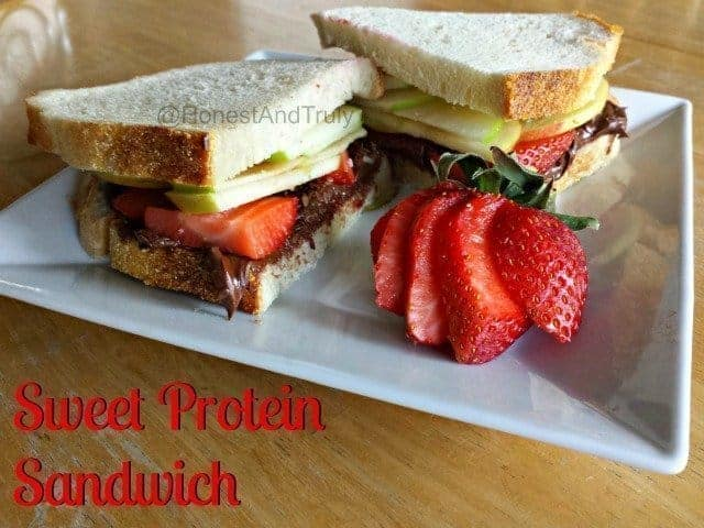 Sweet protein sandwich - fun and easy to make yet healthy enough to have for lunch