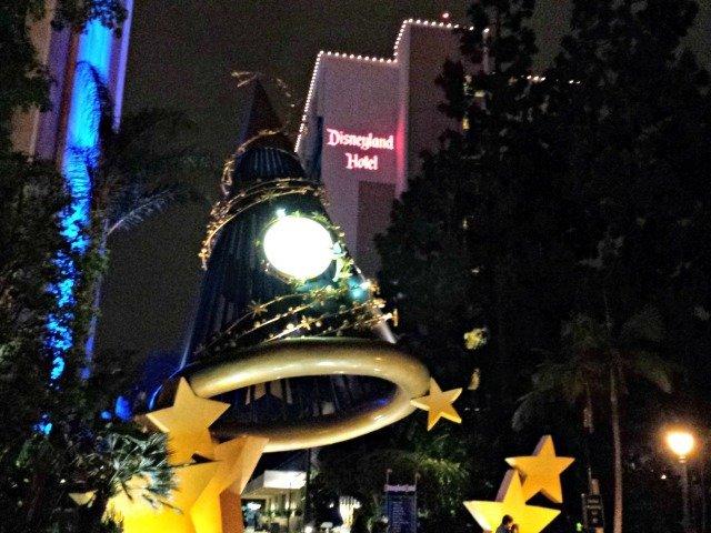 Disneyland Hotel at night