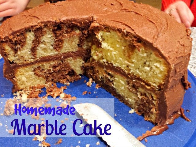 Homemade marble cake recipe, the moistest cake with a special surprise inside