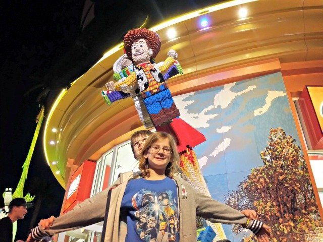 Recreating the Buzz and Woody LEGO creation at Downtown Disney
