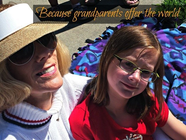 "Grandparents offer the safe world where the word ""no"" is never uttered, encouraging our children to take risks that as parents we sometimes can't or don't offer"