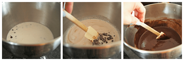 Easy steps to make ganache