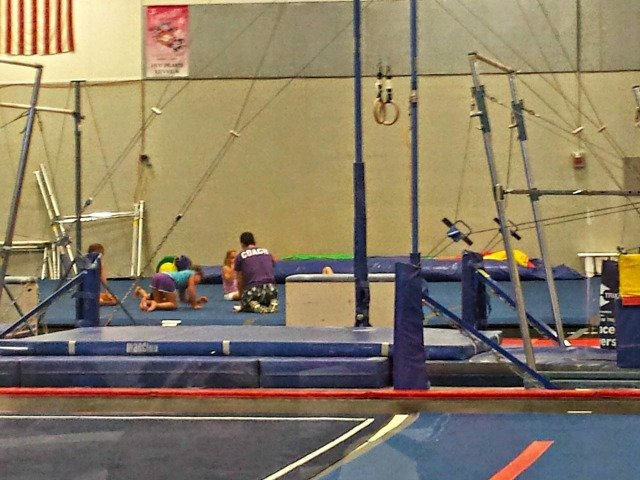 Checking out our gymnastics class