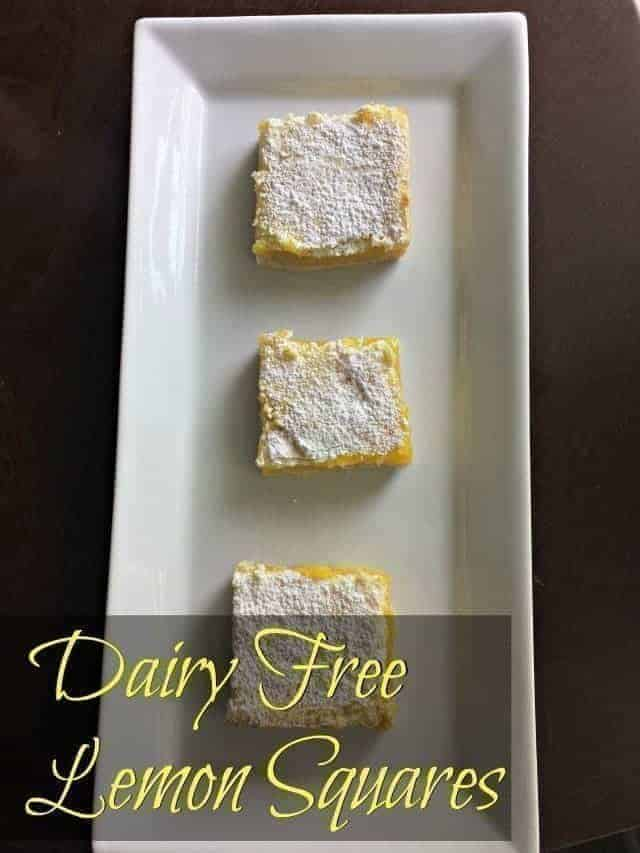 Homemade dairy free lemon squares