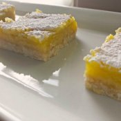 Plate of lemon squares