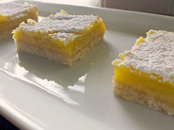 Plate of lemon squares