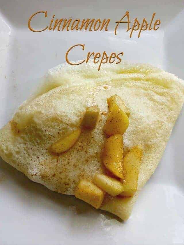 Cinnamon Apple Crepes