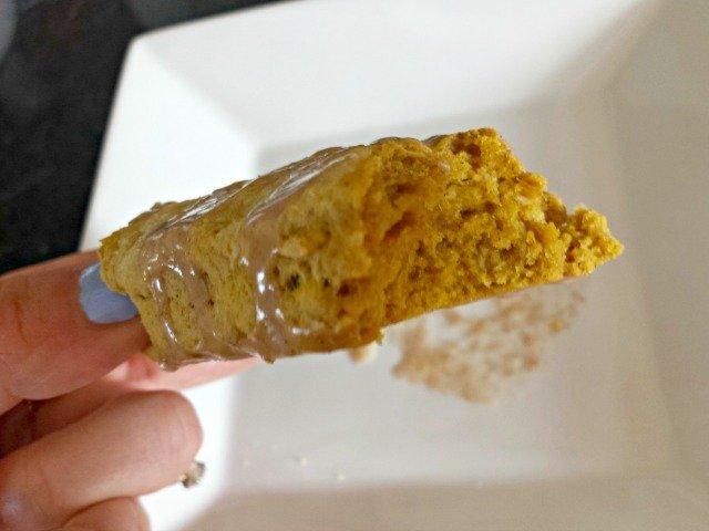 Bite of a pumpkin scone