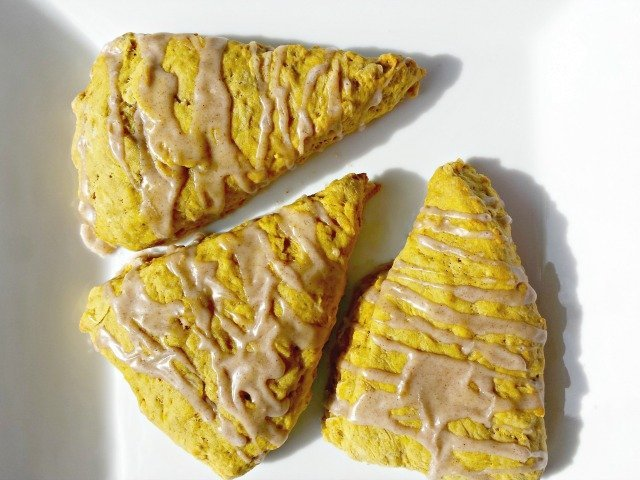 Yummy homemade healthy pumpkin scones
