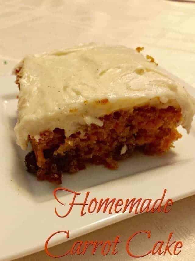 Homemade carrot cake recipe for birthdays