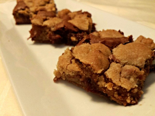 Candy bar cookie brownies