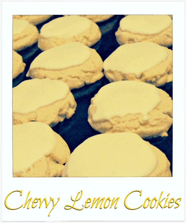 Chewy lemon cookies plated