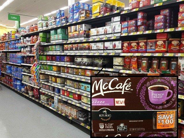 McCafe Coffee aisle at WAlmart