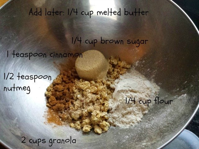 Ingredients for granola topping