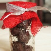 Gift of brownie batter truffles