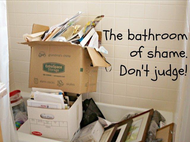 The bathroom of shame