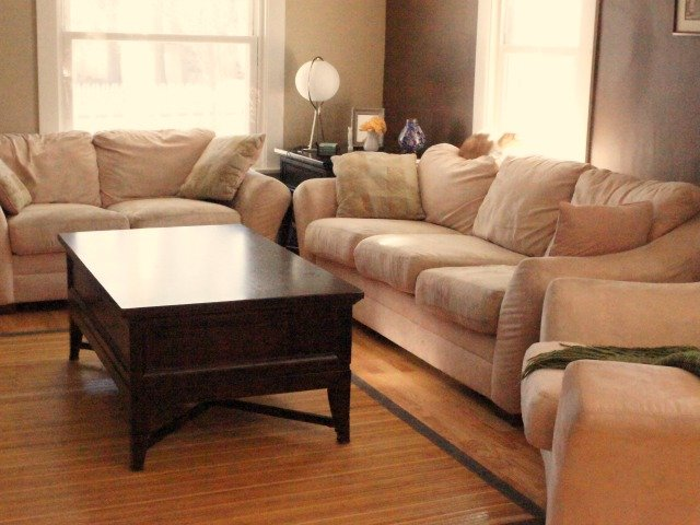 Clean and organized family room
