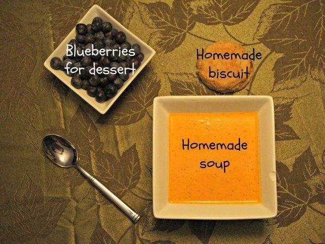 Blueberries for dessert