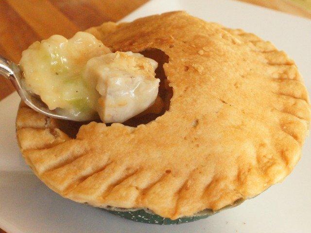 bite of pot pie