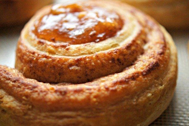 Cinnamon roll baked
