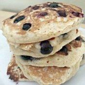 Blueberry pancakes ready to eat