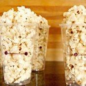 Baymax marshmallow popcorn cups