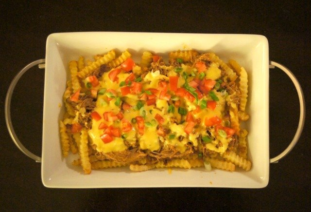 pulled pork french fry nachos