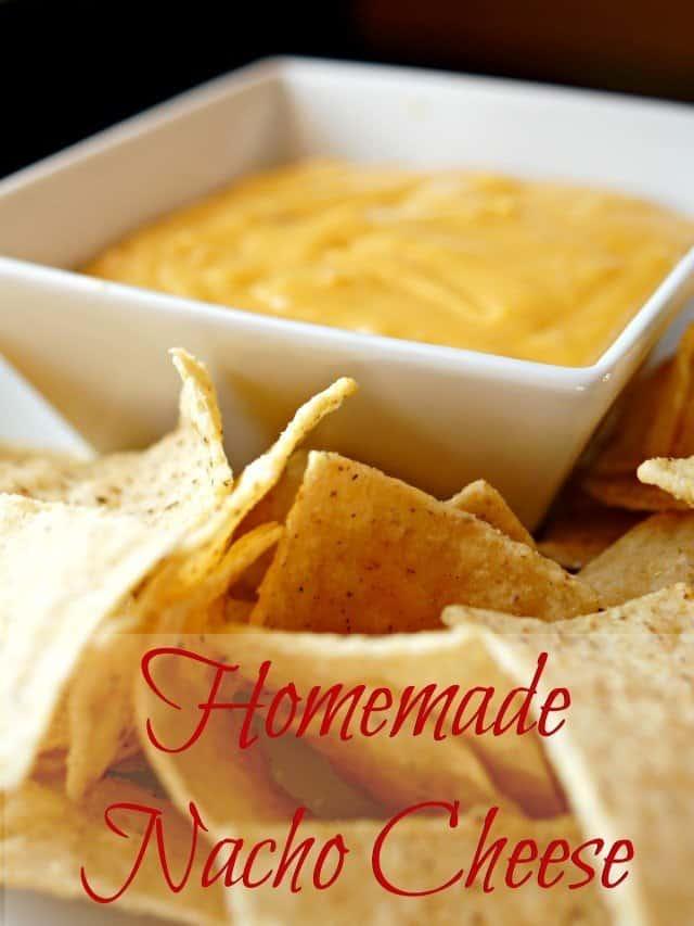 plate of homemade nacho cheese