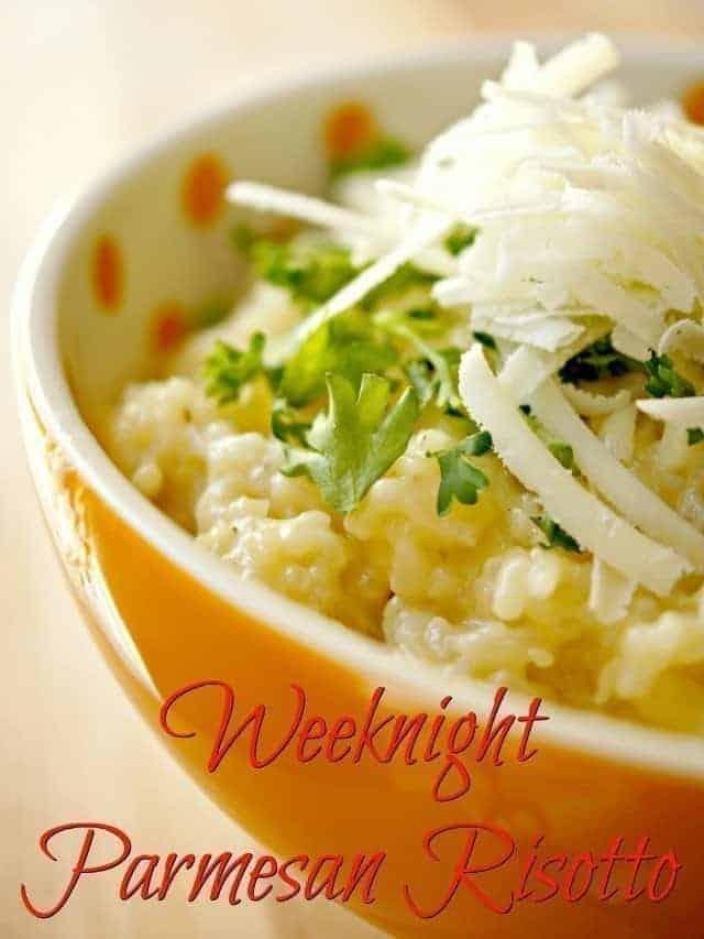 Weeknight Parmesan Risotto recipe