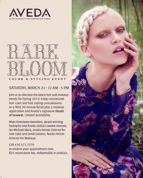 Rare Bloom Aveda Event Details