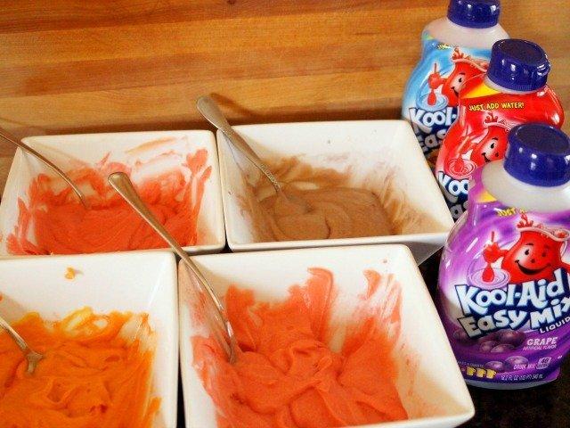 Kool-Aid cupcake batter