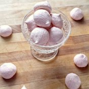 Enjoy some raspberry meringues