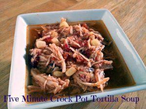 Crock pot tortilla soup recipe