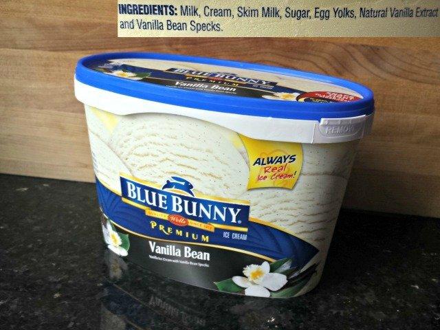 Blue Bunny ice cream ingredents