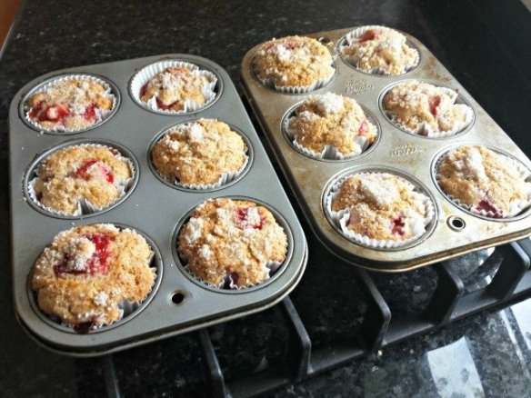 Cool homemade strawberry muffins