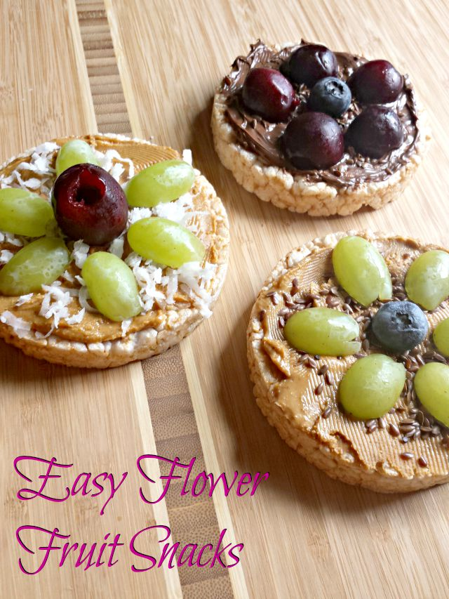 Easy flower Fruit Snacks
