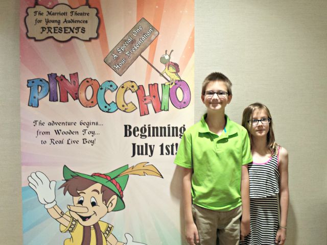 Enjoying Pinocchio at the Marriot Theatre