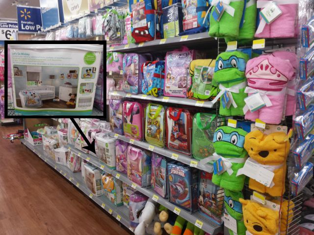Finding Disney Baby Crib Bedding at Walmart