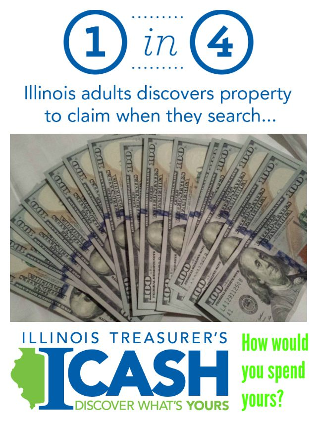 Recovered money and cash can be found at the Illinois Treasurer's ICash program