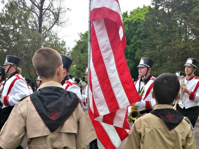 Honor guard for Memorial Day parade