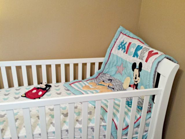 New Lets Go Mickey Crib Bedding