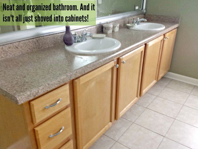 The final product result of how to organize your bathrom