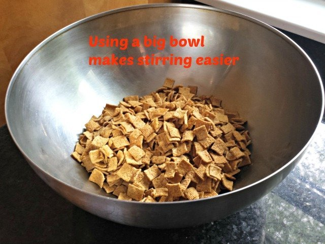 Use a big bowl for cereal bars
