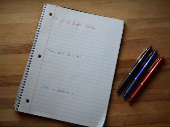 Creating a middle school anxiety eraser list