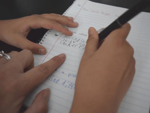 Erasing middle school fears literally