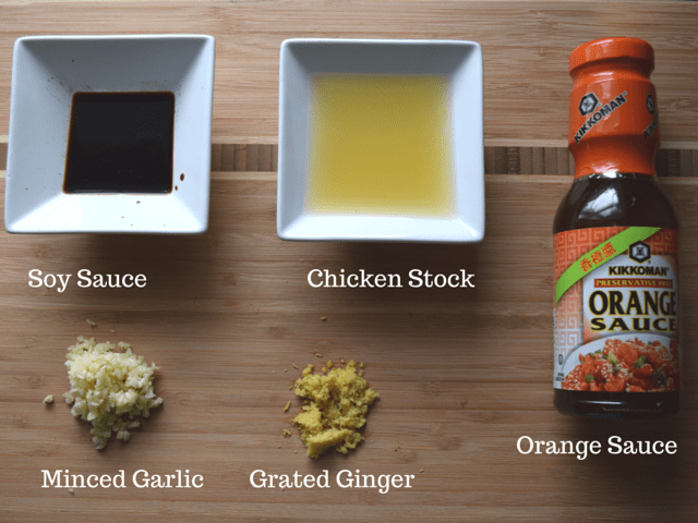 Ingredients for Orange Ginger Cornish Hens