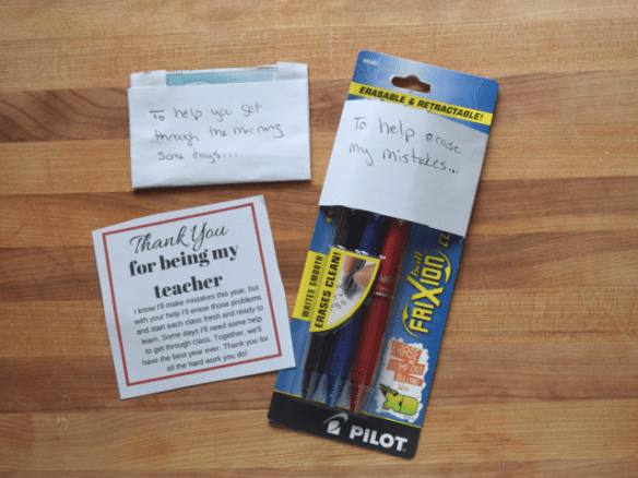 Items for a teacher welcome gift