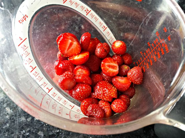 One cup strawberries